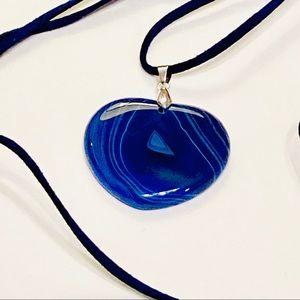 🔹The Captain🔹 Blue Onyx Heart Necklace